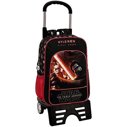 Disney 46423M1 Star Wars Mochila Escolar, 15.6 Litros, Color Negro