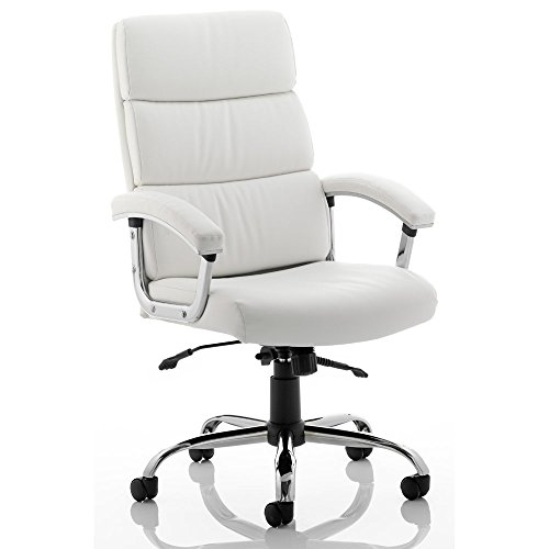 Buy Dynamic Desire Executive Chair with Arms and Headrest – White/Black Special