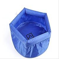 BNN Lavabo Plegable de Viaje al Aire Libre pies de Espuma Cubo de Lavado Grueso,Blue