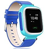 Wayona Kids Tracker Smart Wrist Watch with GPS & GSM System with functions ( Children Safe Security/ SOS Surveillance/Pedometer / Remote Power Off/Alarms Anti-lost for Children) – Blue
