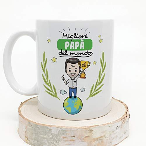 Mugffins papà Tazze Originali di caffè e Colazione da Regalare Papa – Migliore papà del Mondo – Ceramica 350 ml - 4