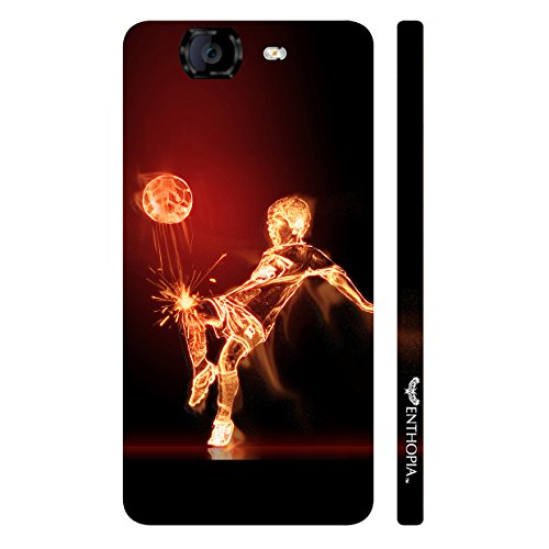 Enthopia Designer Hardshell Case Football on Fire Back Cover for Micromax Canvas Knight A350  available at amazon for Rs.95