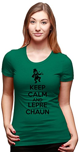 Crazy Dog TShirts - Womens Keep Calm And Leprechaun T Shirt Funny...