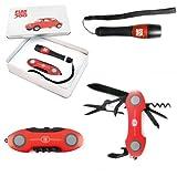 Set coltellino e torcia Fiat 500 Cod.FIPK01-02 - Rosso