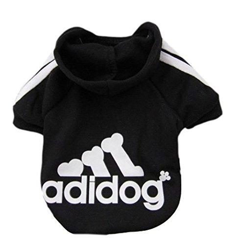 xel_uu.11, Haustier Hund Streifen Schlafanzüge Overalls Mantel Kleidung Bekleidung (Black*XXL) (Hunde Elf Kostüm Xxl)