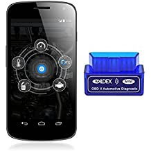 Ldex ELM327 Interfaz Bluetooth 2.0 OBD-II OBD2 Auto coche herramienta de análisis de diagnóstico