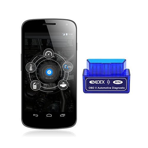 Ldex ELM327 Interfaz Bluetooth 2.0 OBD II OBD2 Auto coche herramienta de análisis de diagnóstico