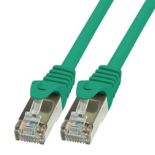 BIGtec 30m Netzwerkkabel Patchkabel Ethernet LAN DSL Patch Kabel Gigabit grün ( 2x RJ-45 Anschluß , CAT5e , doppelt geschirmt SFTP ) 30 Meter -