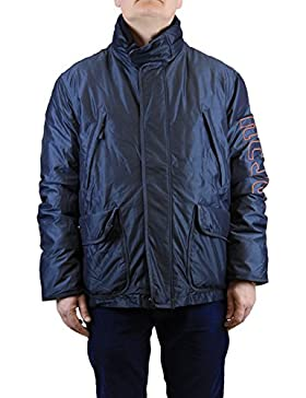 Kejo Navy Goose Down Jacket Blue and Gold (Beige-ish)