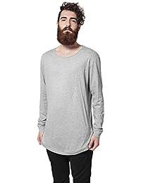 Long Shaped Fashion L/S Tee grey L