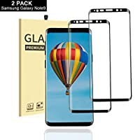 AUELEK Samsung Galaxy Note 9 Screen Protector Glass,[2 Pack] Premium Tempered 9H Hardness Bubble Free Installation Screen Protective Film for Samsung Galaxy Note 9