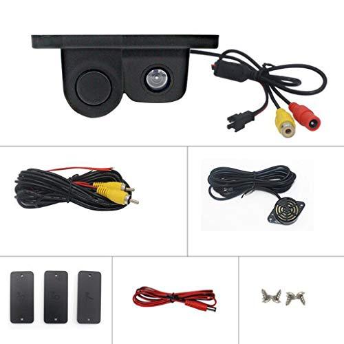 41ac5M0XE8L - Luckiests 2 en 1 Auto estacionamiento del sensor del sonido de alarma del revés del coche del vídeo de copia de seguridad del coche granangular de alta definición marcha atrás cámara de visión trasera