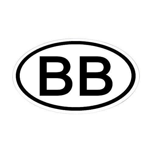 CafePress Barbados BDS Plate Sticker Sticker 1802580873 Oval