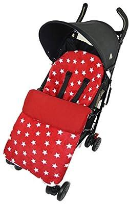 Forro polar saco/Cosy Toes Compatible con Graco Stadium Duo Quattro Evo mosaico estrella roja