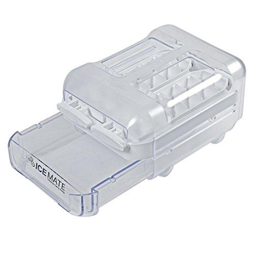 Wpro ICM101 ORIGINAL Eiswürfelbereiter Eiswürfelfach ICE MATE Twist & Carry Away Kühlschrank Gefrierschrank auch Whirlpool Bauknecht ICM100 484000000884 484000001113