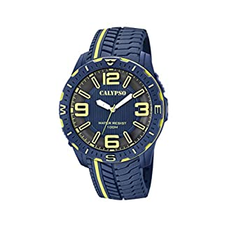 Calypso Watches Reloj Analógico para Hombre de Cuarzo con Correa en Plástico K5762/4