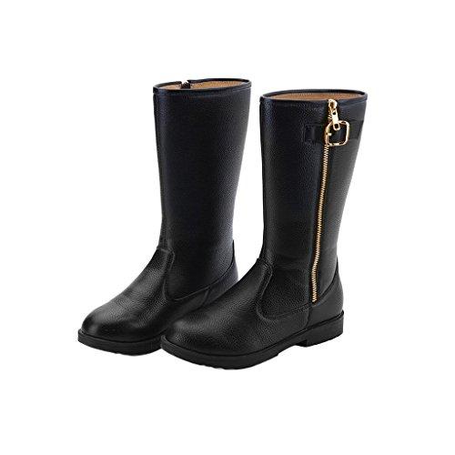 Pettigirl Chaussures Bébés Filles Martin Bottes d'hiver Chaussures de Chaud Noir