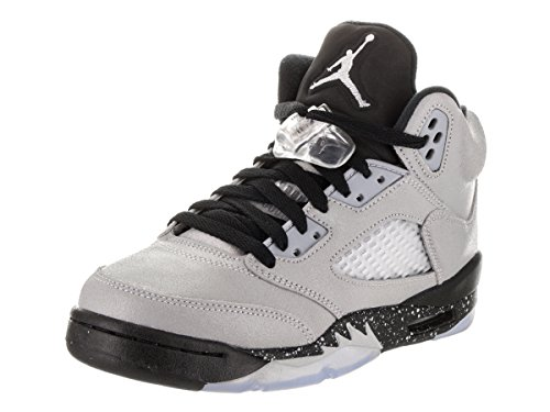 Nike Mädchen Air Jordan 5 Retro GG Basketballschuhe, Gris (Wolf Grey/Black-Black), 36 EU (Air Jordan Retro 5 Kinder)