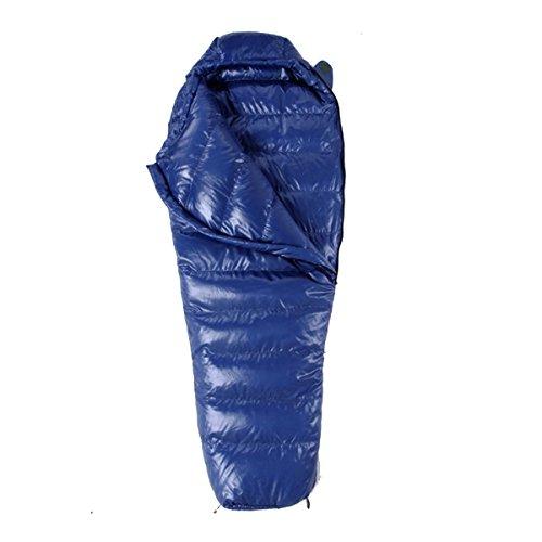 Yy.f Ultralight Down Entendaunen Mama Schlafsäcken Erwachsenes Tragbar Outdoor-Camping Wandern Schlafsack,Blue-205*80cm