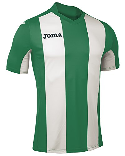 JOMA T-SHIRT PISA V S/S Uniforms EQUIPE JERSEY MANCHES COURTES HOMMES Verde-Blanco - 450