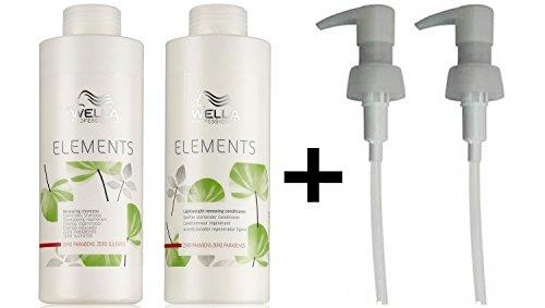 Wella Elements stärkendes Shampoo + leichte, stärkende Haarspülung, 1000ml + 2Pumpen (Elements Wella Shampoo)