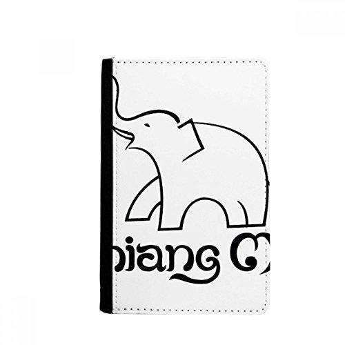 beatChong Tailandia Fácil Escudo Elefante Tarjeta Monedero Caso De La Cubierta Cartera De Viaje De Pasaporte