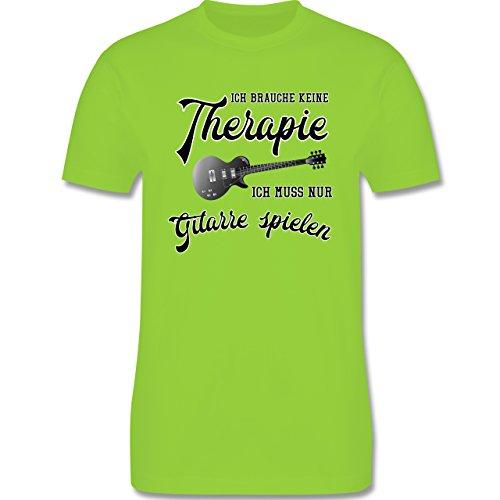 Instrumente - Ich brauche keine Therapie ich muss nur Gitarre spielen - Herren Premium T-Shirt Hellgrün