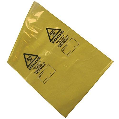 kaysmedical lrg355Biohazard Entsorgung Taschen, Gelb (50Stück) -