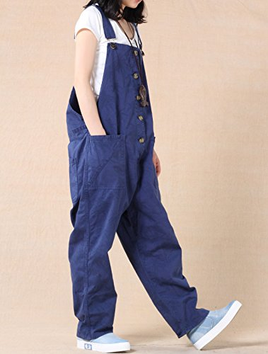 MatchLife Femmes Casual Jeans Salopette Pantalon Style2 Bleu
