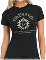 Touchlines Damen T-Shirt Winchester Bros Family Ladies
