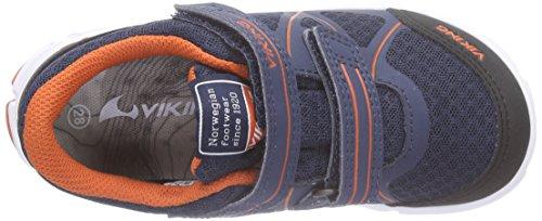 Viking Trym Gtx, Baskets Basses mixte enfant Bleu - Blau (Navy/Orange 531)
