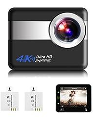 Action Cam,SGODDE 4K Sport-Kamera 1080P HD 12 MP Cam 170 Ultra-Weitwinkel, Unterwasserkamera Wasserdicht, mit Montage Zubehör Kit,1050mAh Akku für Radfahren Schwimmen Klettern Tauchen