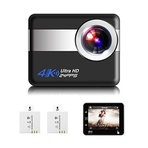 """Action Sport camera 4K, SGODDE onderwater 30m Action Cam met 2oplaadbare batterijen, 1080p Full HD, 170° Groothoek, Wifi afstandsbediening ,2.31""""display, Touchscreen, Anti-Shake voor duiken, Motorfiets, Surfen en skiën"""
