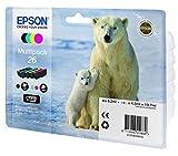 Epson Original T26 Tintenpatrone Eisbär, Multipack 4-farbig (Frustfreie Verpackung)