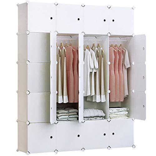 BRIAN & DANY 20 Cube Tragbarer Kleiderschrank aus Kunststoff mit Türen & 2 Kleiderbügeln - tiefer Würfel als normal (35,6 cm vs. 45,7 cm) - Würfel Pfund 2