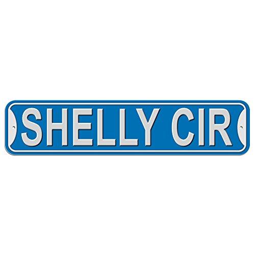 Shelly Schild–Kunststoff Wand Tür Street Road weiblich Name, plastik, blau, Kreis