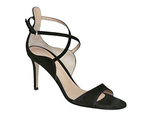 Sandali tacco alto Gianvito Rossi in camoscio nero - Codice modello: G60609.85RIC.CAMNERO - Taglia: 39 IT