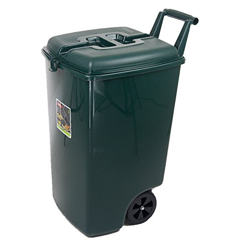 Mülltonne 90 L dunkelgrün Abfalleimer Eimer Abfall Küche Entsorgung Müll