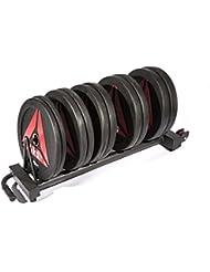 Reebok Horizontal Plate Storage Halterung für Gewichtsscheiben, Schwarz, One Size