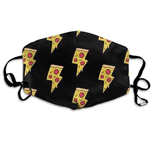 Allergie Ohrschlaufen Halbgesichtsmaske Atemschutzmaske Laufen Winddicht Polyester-Maske verstellbar elastischer Gurt Cool Pizza ()