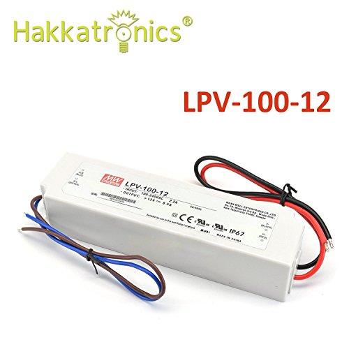 Preisvergleich Produktbild Mean Well LPV-100-12 LED-Treiber 102W 12V IP67 Stromversorgung Wasserdicht