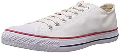 Converse Men's White Canvas Sneakers - 10 UK (0104192W)