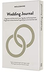 Idea Regalo - Moleskine Wedding Journal, Notebook a Tema, Taccuino con Copertina Rigida per Programmare ed Organizzare il Calendario Nuziale, Dimensione Large 13 x 21 cm, 376 Pagine