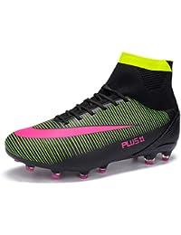 MAXTOP Zapatos de fútbol Hombre FG Spike Botas de fútbol de Caucho para  Hombre Adulto Zapatos 5fdaa548c8235