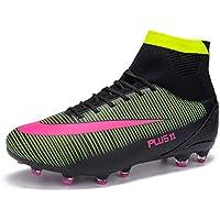 MAXTOP Zapatos de fútbol Hombre FG Spike Botas de fútbol de Caucho para Hombre Adulto Zapatos
