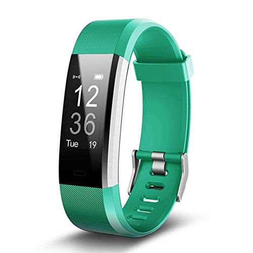 """ZZADD Smart Armband, Bluetooth 4.0 Wasserdichter IP67-Pulsmesser mit 0,96\""""-Panel, Schrittzähler, GPS & Auto Sleep Tracking, Fitness Tracker für iPhone X / 8/7/6, iPad, Samsung Galaxy S9 / S8 / S7"""