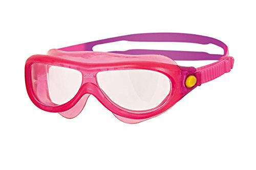 Zoggs Kinder Phantom Kids Mask Schwimmbrille, Yellow/Pink/Clear, One Size