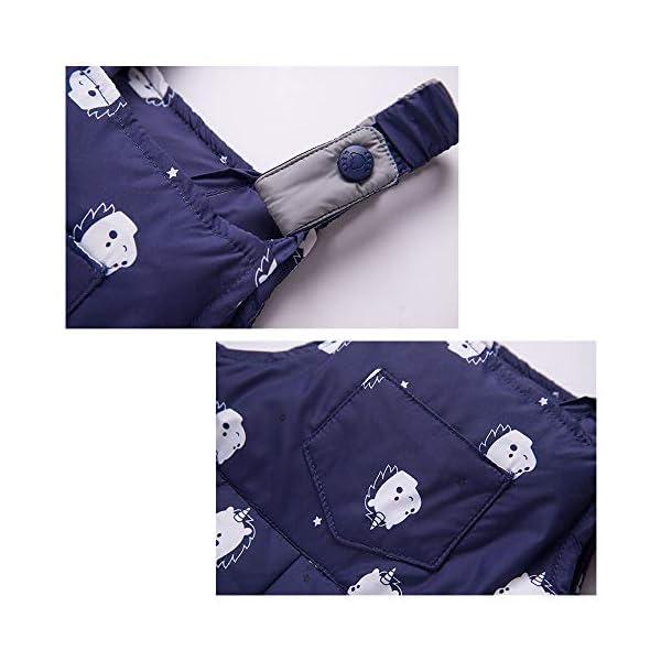 Trajes de esquí para Niños, 2 Piezas Unisexo Chaqueta de Pluma + Pantalones de Nieve Invierno Ropa 5