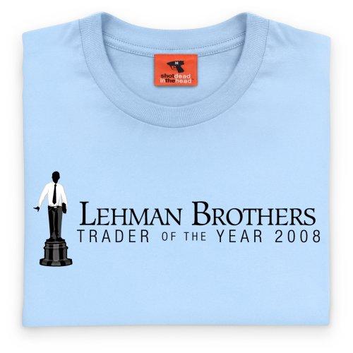 Square Mile Lehman Brothers T-Shirt, Herren Himmelblau