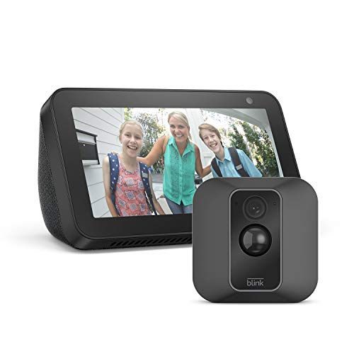 Blink XT2 1-Camera System + Echo Show 5, Black, works with Alexa